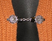 Sweater Clip with Short Chain Silver Filigree Flower Handmade in Australia