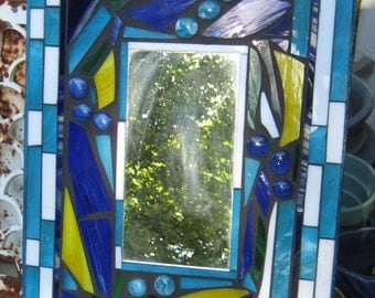 Sweet Mosaic Stain Glass Mirror
