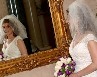 wedding bubble bridal veil short wedding veil puffy bridal veil bouffant veil