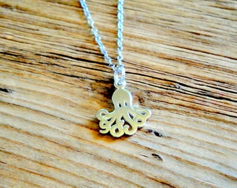 Octopus Sterling Silver Necklace