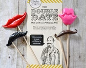 DIY Photo Booth Prop Kit - The Double Date - Set of 4
