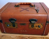 Airliner Vintage Cosmetic Train / Airline Travel Case w/ Key