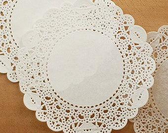 50 Romantic Ivy Lace Paper Doilies (6in)