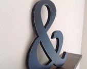 Large Black Distressed Ampersand Sign Perfect for Weddings ready to ship