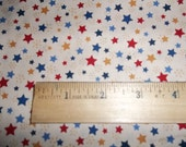 Sweet Liberty Print Patriotic Forty of July Red White and Blue Stars Two Yards and 28 Inches of Fabric by P and B Textiles
