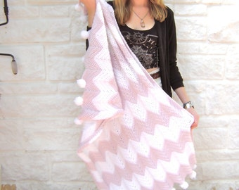Pink Champagne Baby Blanket Crochet Pattern - Perfect Photo Prop