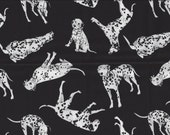 I Love My Dalmatian Fat Quarter I Spy Black White Dalmation Dog Fabric  Fat Quarter BTFQ  Out of Print OOP