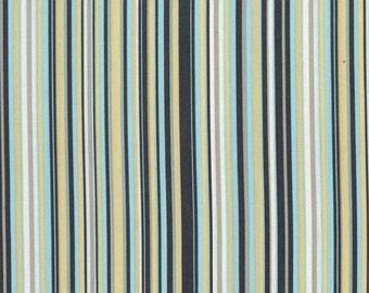 Michael Miller Fabric, Play Stripe in Sea, 1 Yard Total