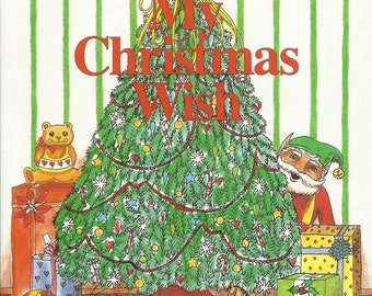 Your Childs Personalized CHRISTMAS GIFT  My Christmas Wish Book ships  in 24 hours  Also available in Spanish