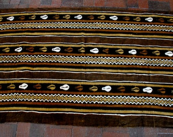 "African Mud Cloth 43""x66"""