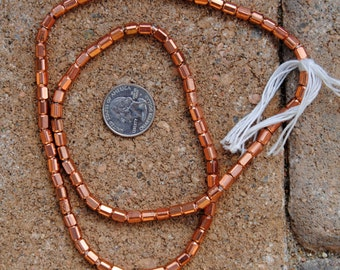 Indian Copper Metal Beads: Cube  4x5mm