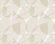 Classical Elements By P&B Textiles - Modern Leaves in Neutral and White
