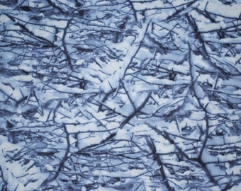Winter Ice on Tree Branches -- Full or Half Yard Timeless Treasures Quilt Fabric