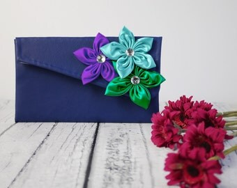 Bridesmaid Clutch, Peacock clutch for your wedding