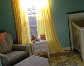 """1"""" Ruffle Curtain Panels Pair - Lots of Colors"""