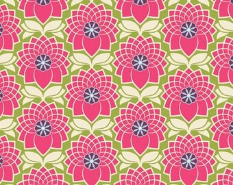 Joel Dewberry Heirloom- JD51 Chrysanthemum Fuchsia