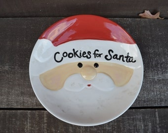 Cookies for Santa Ceramic Christmas Serving Plate - Perfect for Christmas Eve