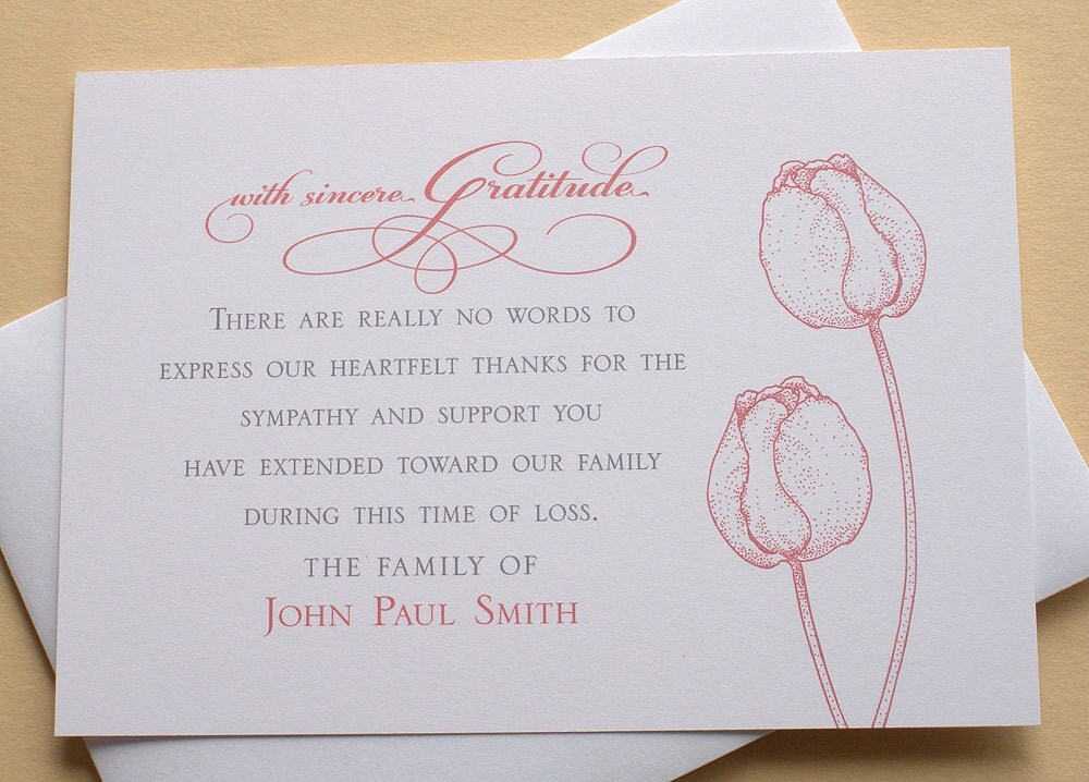 Similiar Thank You Card For Attending Keywords – Funeral Words for Cards