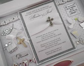 FIRST HOLY COMMUNION Baby Keepsake Box with Engraved Name Plate