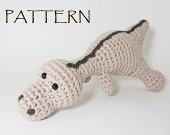 Amigurumi dinosaur pattern pdf crochet tutorial US English