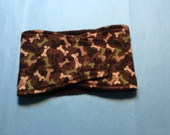 Camo Bones - Male Dog Diaper - Belly Band - Available in All Sizes