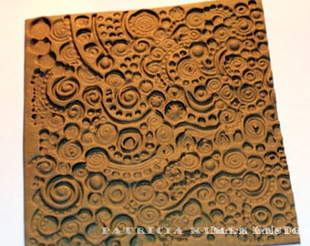 "Original sculpted mold sheet, ""3 Ring Circles"" pattern"