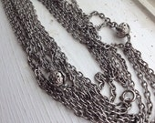Extra Long Vintage Necklace / Filigree / Silver