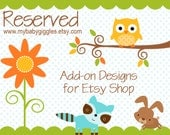 Reserved for Amanda - New Size Etsy Banner