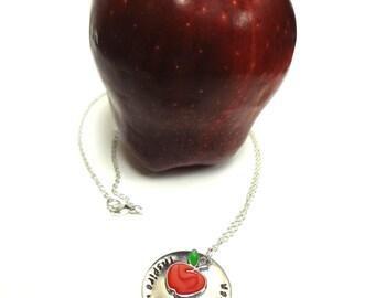 Teacher Necklace Inspire Enrich Enlighten