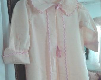 True Vintage Pink Trim 1900s Cotton Victorian Christening coat layette Jacket Child or Antique Doll Dress 4 Antique Simon Halbig Bebe Doll