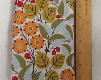 Red, yellow,green and blue floral Paperback padded Cover