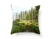 Photo Pillow Cover Whiteshell Park Nature Photo Interior Decorating Decorative Throw Pillows 20x20 18x18 16x16 Green Throw Pillows