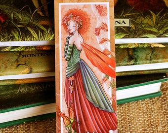 Autumn Muse Handcrafted Bookmark