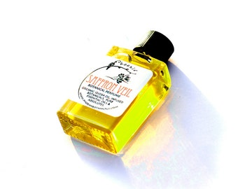 Saffron Veil - Wraps You in Exotic Flowers and Spices, Tuberose, Magnolia Sexy Green Floral - Botanical Perfume - 5 ml
