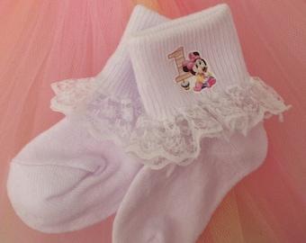 Character Socks, Minnie Mouse, Batman, Mouse Birthday Socks, Abby Cadabby, TinkerBell, Minnie Mouse Ruffle Socks, Baby Minnie Mouse