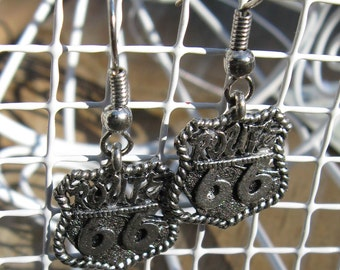 Route 66 Earrings - Gold or Silver Finished