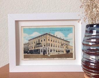 Dieckmann Hotel, Vandalia, Illinois - framed vintage postcard