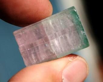 Paprok Pink and Blue Bi Colored Tourmaline Crystal Specimen
