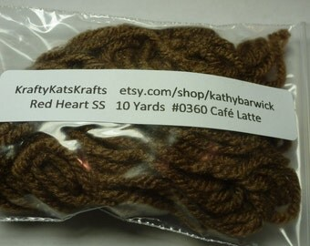 10 Yards Red Heart Super Saver Yarn #0360 Cafe Latte
