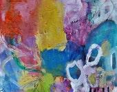 Bravo- 11x15- Mixed Media Original- Colorful, Fresh, Abstraction