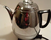 Vintage GE General Electric Model 18P40Coffee Maker Percolator Works Pot Belly -  Tea Pot - Vintage Mid Century Streamline 50s Kitchen