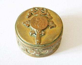 Antique box small trinket box