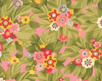 Budding Bouquets Floral Print in Blush from the Lulu Collection, by Moda