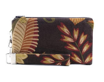 Floral autumn handbag with dark colors