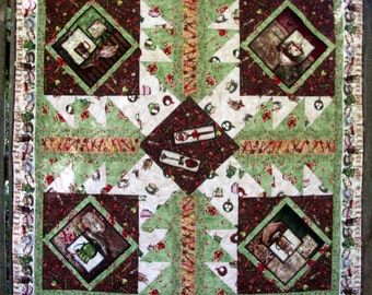 Quilt Hot Chocolate Cocoa Winter Quilted Quiltsy Handmade FREE U.S. Shipping