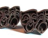 Mask Cuff Links TRAGEDY & COMEDY Vintage CuffLinks Jewelry