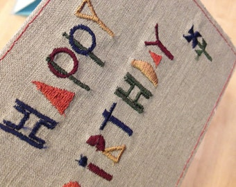 Embroidery Birthday cards