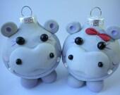 Hippopotamus for Christmas Ornament