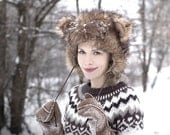 Teddy Bear Hat - Unisex - Winter Hats - Winter Fashion Accessory -  Chunky Fake Faux Fur - Soft - Fleece Lining