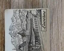 Vintage Souvenir Ashtray, Lucerne Switzerland